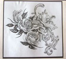 Tattoo Sleeve Design, Roses by Pablo0o