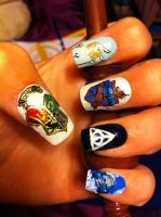 Harry Potter Nail Art by HummingbirdHeartbeat
