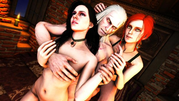 TW3:WH - Geralt 3 some by 12evenZ