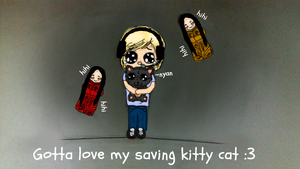 Gotta love my saving kitty cat :3 by LilxCherrypop