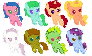 Baby Ponies Adoptables STILL OPEN by nuazka