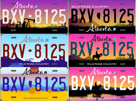Alberta License Plate Redesign Submissions by FastLaneIllustration