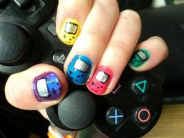Gameboy Nail Art by PrettyAndPolished