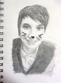 The Cat Whiskers Come From Within - Dan sketch by starsafterlight