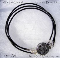 Als TriStrand Leather Bracelet by 1337-Art
