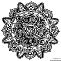 Hand-Drawn Mandala 4 by WelshPixie