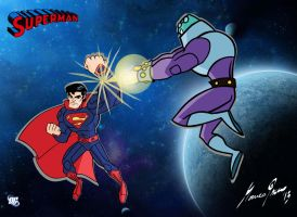 Superman vs Brainiac by Granamir30