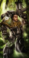 Deathwatch Space Wolf Cain by mcain31