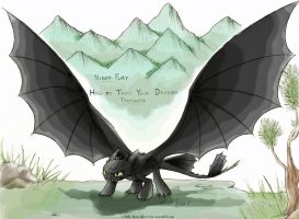Night Fury - Toothless by RavenEvert