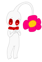 Tommy the White Pikmin by pikminyellow