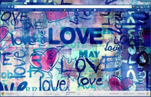 Emo Style Love Graffiti Google Chrome Theme by vrkm2003
