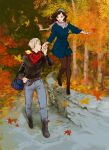 Walking in fall by beanclam