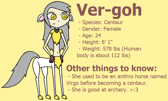 Ver-goh the Centaur by Ambipucca