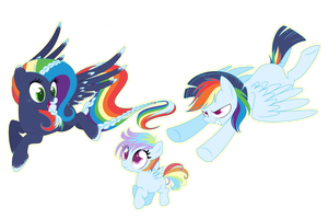 Rainbow Kids : Commission by NabbieKitty
