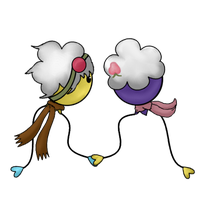 Fio and Colin - Drifloon Together - Nothing added by Animela-WolfHybrid