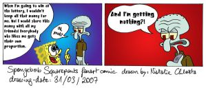 Sponge and Squid about Lottery by LazyAsHell