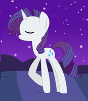 Rarity is a Pretty Pony by fluffysensation