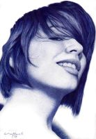 Bic Ballpoint Girl Portrait No.1 by LopezLorenzana