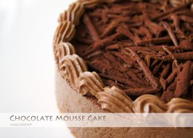 Chocolate Mousse Cake by macaron9