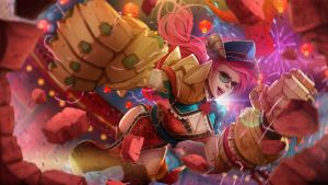 League of Legends Vi The Lunar Breaker by magion02