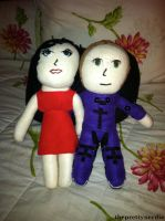Paloma and Issac Plushies by ThePrettyNerdie