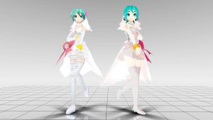 Project Diva Bride Miku MMD download by Reon046