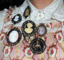 A whole bunch of brooches by OphanimGothique