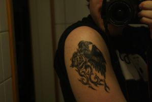 Black rose and Raven tattoo by NorthernAnimator