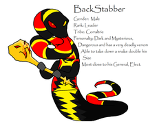 Backstabber serpentine OC by fairytalekitty
