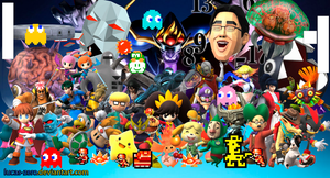 Super Smash Bros 4 Assist Trophies Wallpaper by Lucas-Zero
