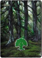 Magic Card Alteration: Forest 4/3/14 by Ondal-the-Fool