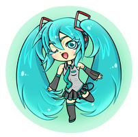 Miku Keyring by Blue-Fayt