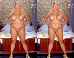 3d Busty BBW Samantha 39g Nude Full Length by 3dpinup