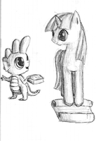 Spike and Twilight from MLP:FiM by FuksjaPony
