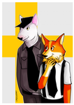 Silvester and Eginhard as dogs by Hegichern