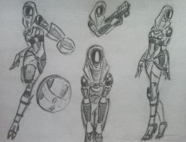sketches Tali (50) by spaceMAXmarine