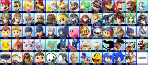 Super Smash Bros - My 64 Character Roster by clockworkMelody