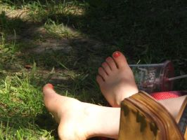 Feet In The Grass #1 by Neville6000
