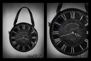 Clock bag black small by Euflonica