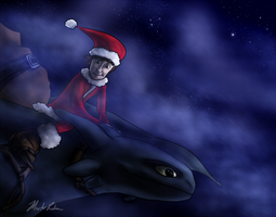 Hiccup as Santa by masterrohan