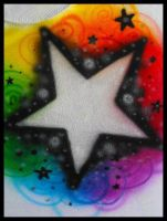 Airbrush - Rainbow Star by vampireheartagram27