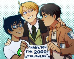 Shingeki no Hetastuck: Thanks for 2000 Followers! by PunPuniChu