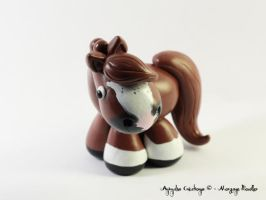 Custom horse - chestnut sabino by AnimalisCreations