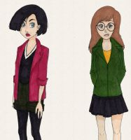 Daria and Jane by injuredbirds