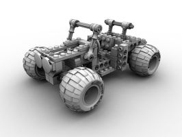 LEGO Buggy front view by AndyBuck