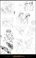 Supernatural Sketch Dump by xPrincessSakurax