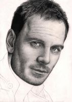 'Micheal Fassbender' 70% WIP practice drawing by Pen-Tacular-Artist