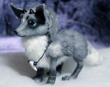 Spirit of the wolf. art doll sold by RedFoxAlice