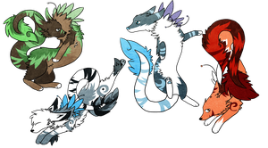 .:Adopts:. Elemental Caelestix(s) *Sold* by Rising-At-Midnight