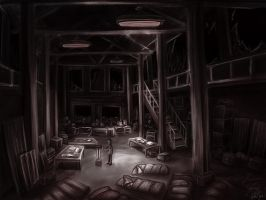 Concept Art: Rebel Base by ange-of-the-top-hat